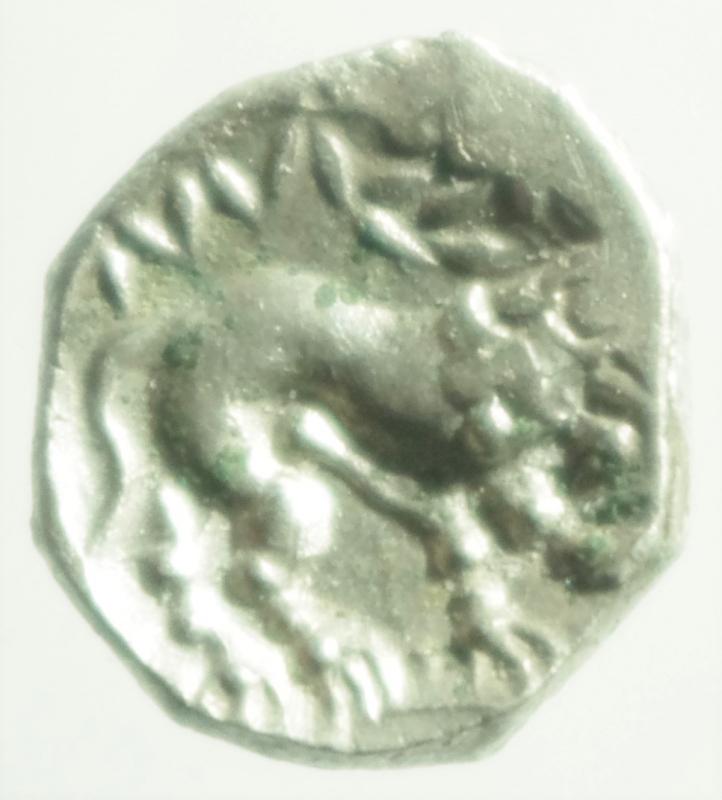 reverse: Mondo Greco. Celti. Gallia Cisalpina. Insubri. III-II Sec. a.C. Dracma, imitazione del tipo massaliota. Ag. D/ Testa di Artemide a destra. R/ Leone stilizzato gradiente a destra. Peso 2,56 gr. Diametro 15,00 mm. BB+.