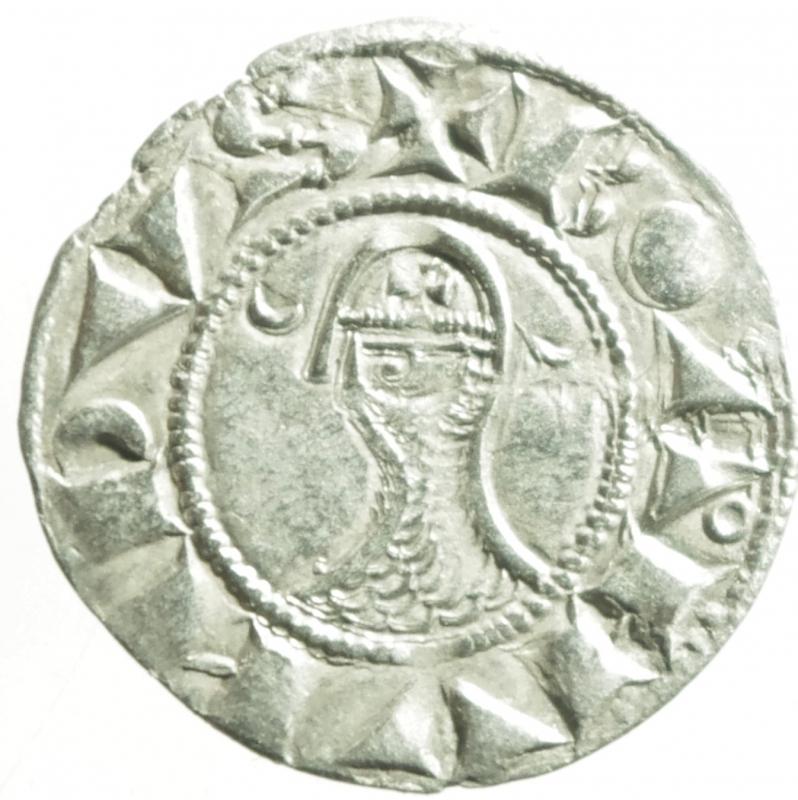 obverse: Oriente Latino.Antiochia. Boemondo III (1163-1201). Denaro tornese. Schl. tav. III, 4 (Boemondo IV). Malloy 66e. Allen type 1c. MI. g. 0.87 mm. 18.70 .SPL.