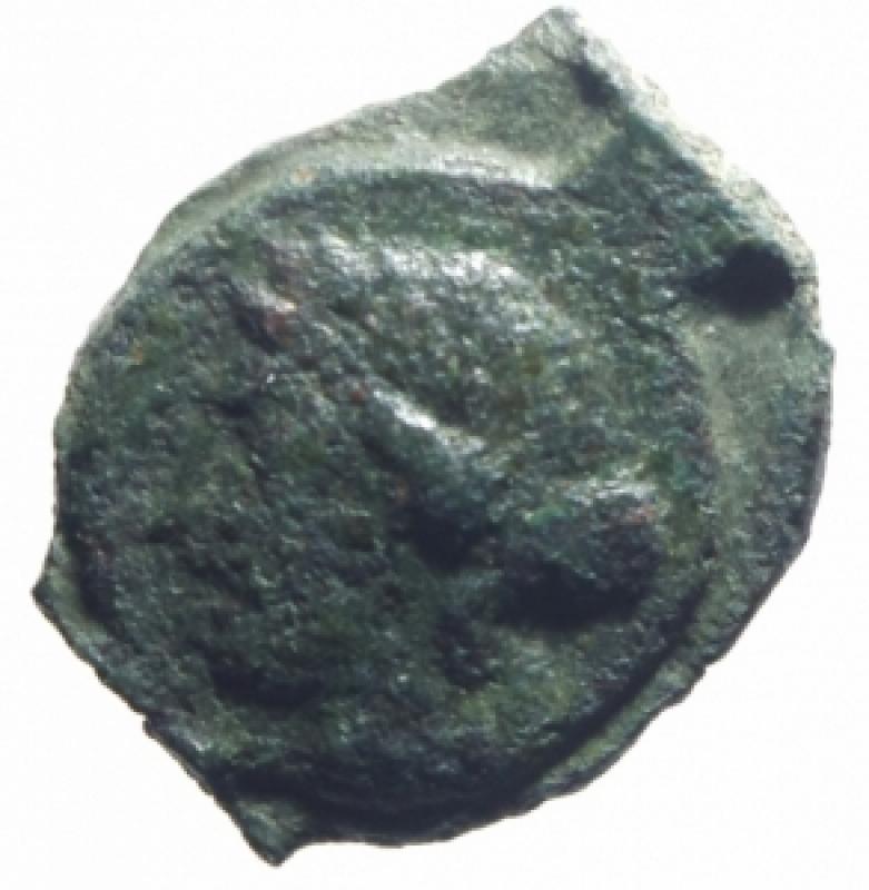 obverse: Monete Celtiche. Gallia Narbonese. Massalia. 121 -49 Sec. a.C. Ae. D/ Testa di Apollo a destra. R/ Toro cozzante verso destra MA. Peso 2,55 gr. Diametro 13,00 mm. BB.