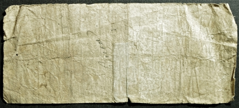 reverse: Cartamoneta.Banca Popolare di Lodi.Bono da 1 Lira 13 luglio 1867.MB