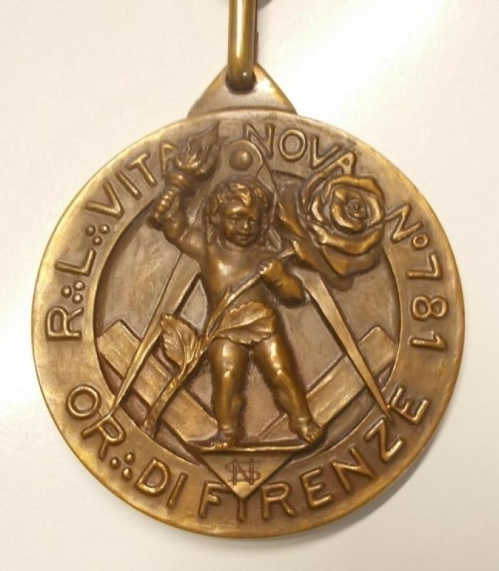 reverse: Massoneria - Collare con medaglia. Ottimo