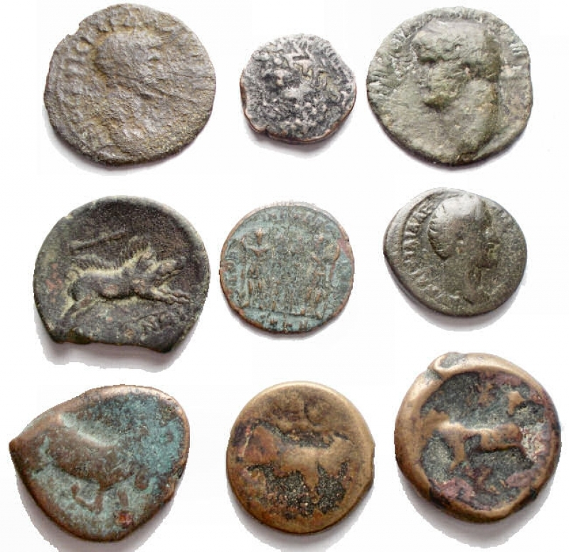 obverse: Lotti - Evo Antico. Insieme di 9 pezzi in Ae