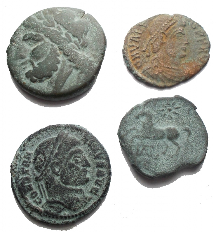 obverse: Lotti - Evo Antico. Insime di 4 pezzi in Ae
