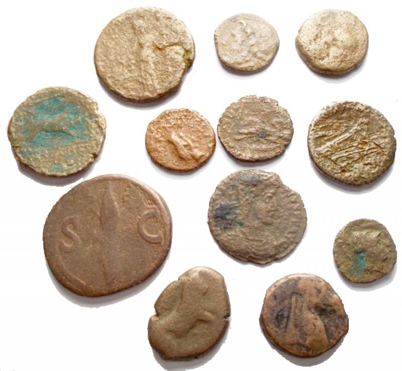 reverse: Lotti - Evo Antico. Insieme di 12 pezzi in Ae
