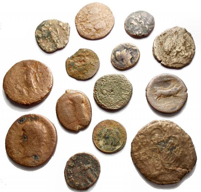 reverse: Lotti - Evo Antico. Insieme di 14 pezzi in Ae