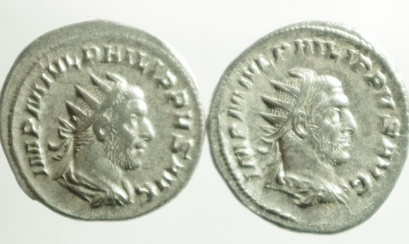 obverse: Lotti.Impero Romano.Lotto di 2 Antoniniani di Filippo I, mediamente BB.