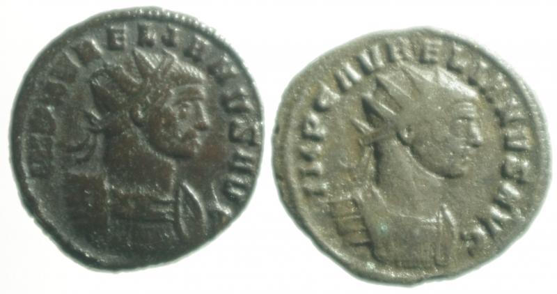 obverse: Lotti.Impero Romano.Lotto di 2 antoniniani di Aureliano, mediamente BB.