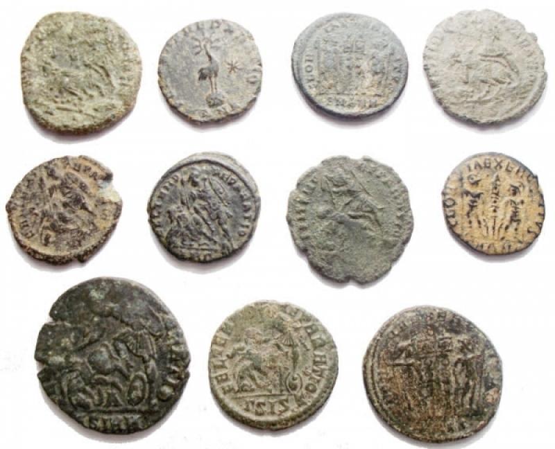 reverse: Lotti - Impero Romano. Costanzo II. Insieme di 11 esemplari