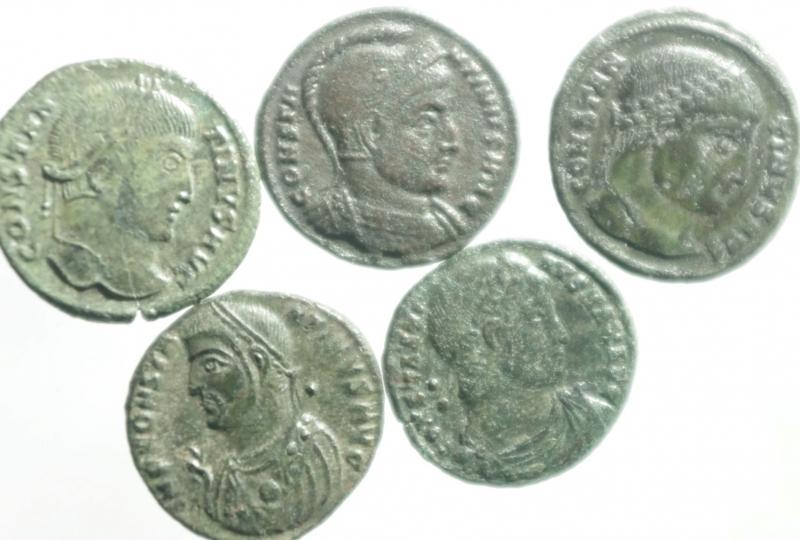 obverse: Lotti.Impero Romano.Costantino Magno.Lotto di 5 monete tutte differenti, mediamente BB.
