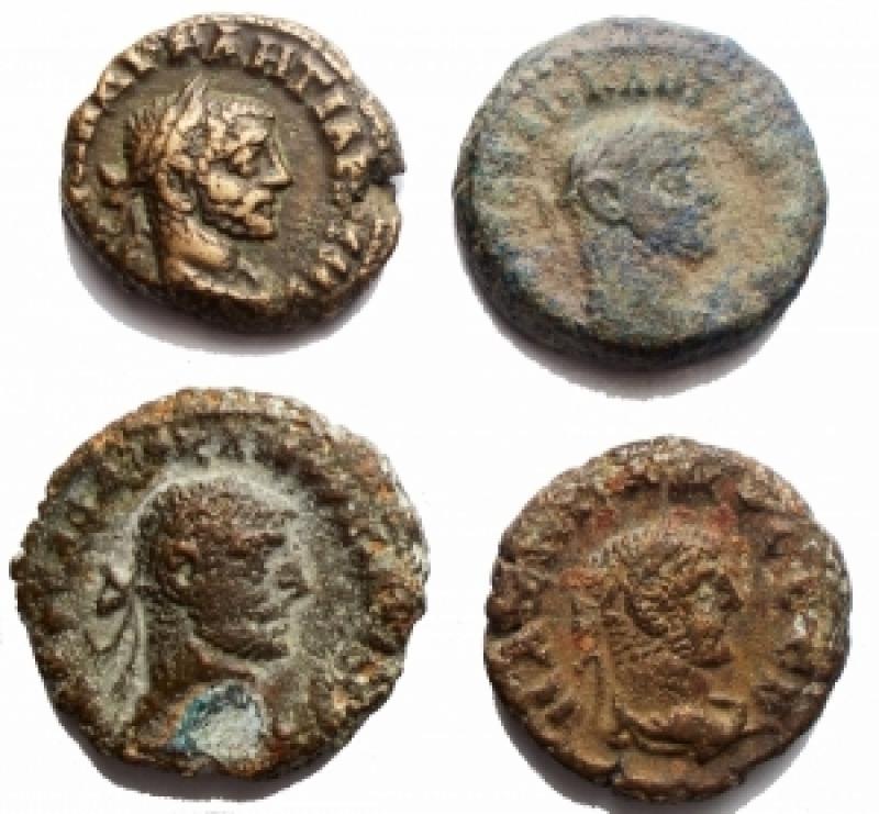 reverse: Lotti - Provincia Romana. Egitto. Alessandria. Insieme di 4 tetradracme in BI