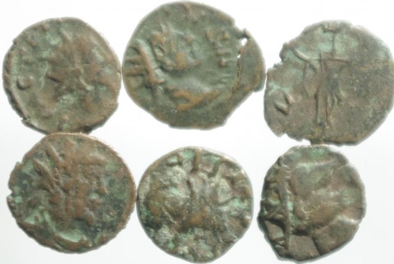 obverse: Lotti.Monete Barbariche.Lotto di 6 monete imitative degli imperatori romano gallici, mediamente MB+