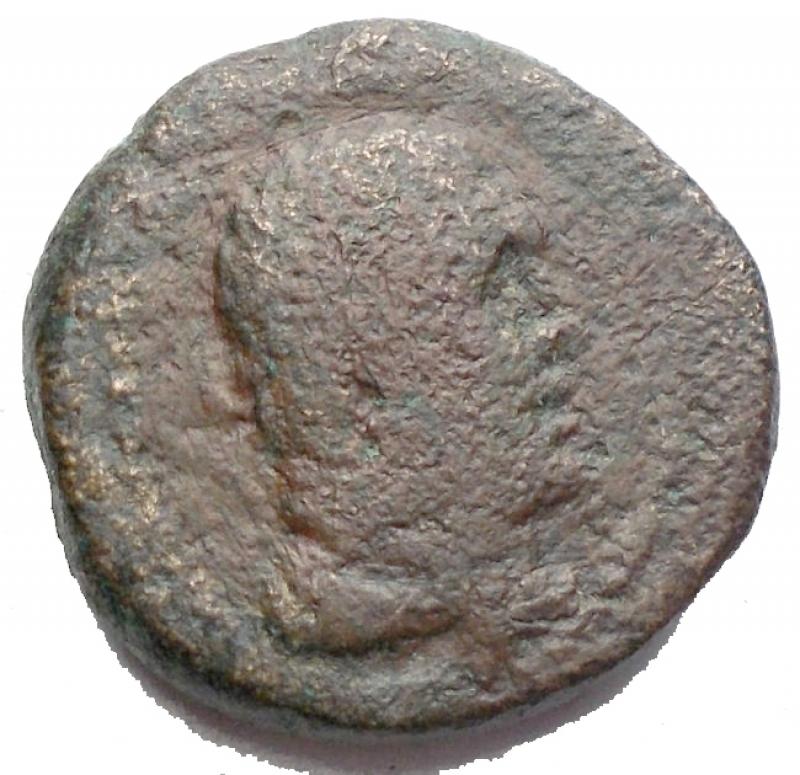 obverse: Mondo Greco -Persia, Sardeis.AE 16,9 mm. 2-1 Sec aC.d/ Testa di Ercole a ds r/ Apollo in piedi stante volto a sn. g 6,37. MB+