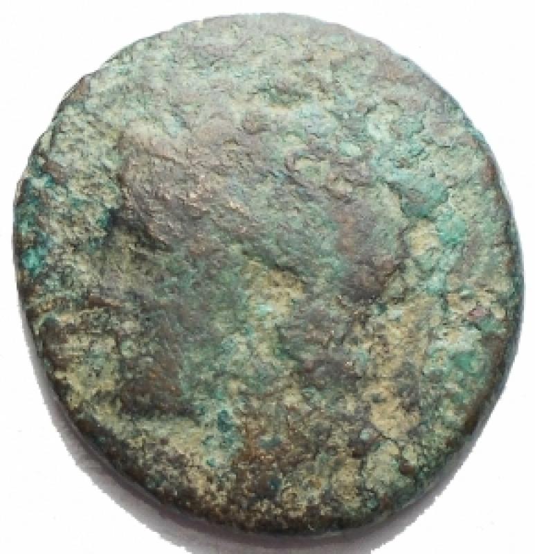 obverse: Mondo Greco . Akarnania, Federal Coinage. AE 19,45 x 20,49 mm, 300-167 ac. d/ Athena a sn r/ Acheloos a sn. g 4,87. SNG Cop. 423. BMC 21. MB. Intonso