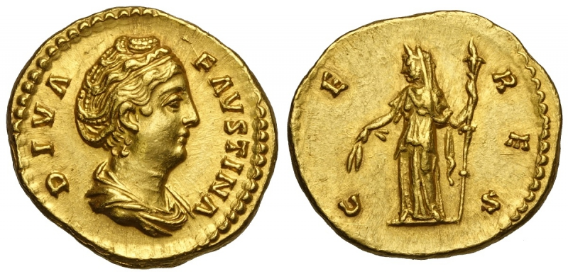 obverse: Faustina I, Aureo, RIC 378 Au mm 19,5 g 7,43 SPL