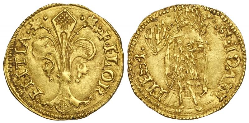 obverse: Firenze, Repubblica, Fiorino d oro largo 1510 II Semestre, Francesco di Tonao Nerli, RR MIR-30/2 Au mm 23 g 3,48 mossa di conio al rovescio, SPL