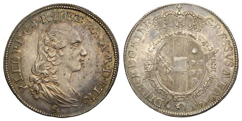 obverse: Firenze, Pietro Leopoldo di Lorena, Paolo 1788, Rara Ag mm 24 g 2,62 alta conservazione, SPL-FDC