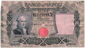 obverse: BANCO DI NAPOLI - 500 Lire serie I-x 02457