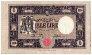 obverse: REGNO D ITALIA - 1000 Lire M grande decr 12/07/1927.