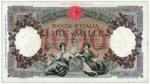 obverse: REGNO D ITALIA - 1000 Lire Regine del Mare Decr 12/02/1935