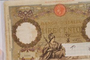 obverse: VITTORIO EMANUELE III - 100 Lire
