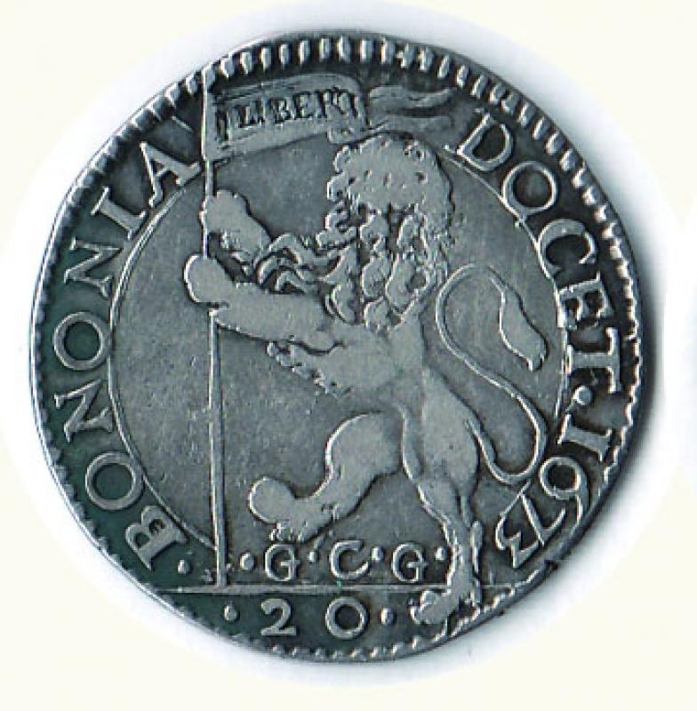 obverse: BOLOGNA - Clemente X (1670-1676) - Lira;