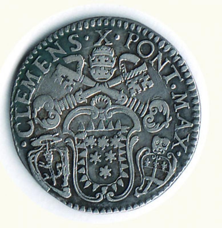 reverse: BOLOGNA - Clemente X (1670-1676) - Lira;