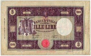 obverse: REPUBBLICA SOCIALE - 1000 Lire M grande - Decr 06/03/1944.