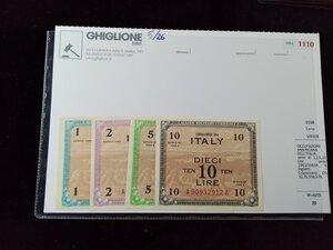 obverse: OCCUPAZIONE AMERICANA DELL ITALIA 4 biglietti