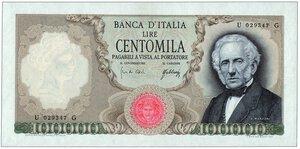obverse: REPUBBLICA ITALIANA 100.000 Lire