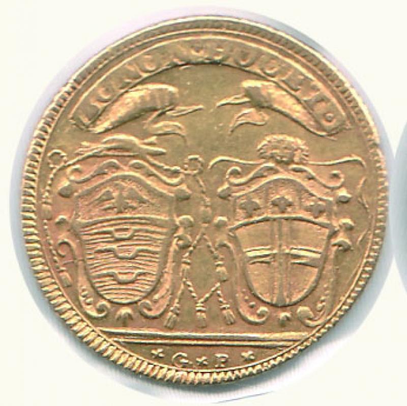 obverse: BOLOGNA - Pio VI ( 1775-1799) - Quadrupla 1786
