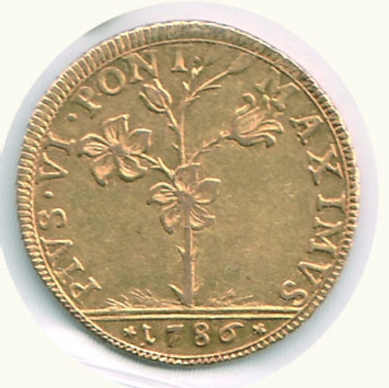 reverse: BOLOGNA - Pio VI ( 1775-1799) - Quadrupla 1786
