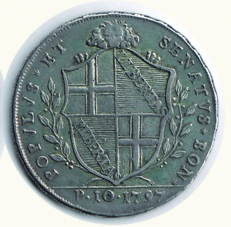 reverse: BOLOGNA - Governo Provvisorio - Scudo da 10 Paoli 1797