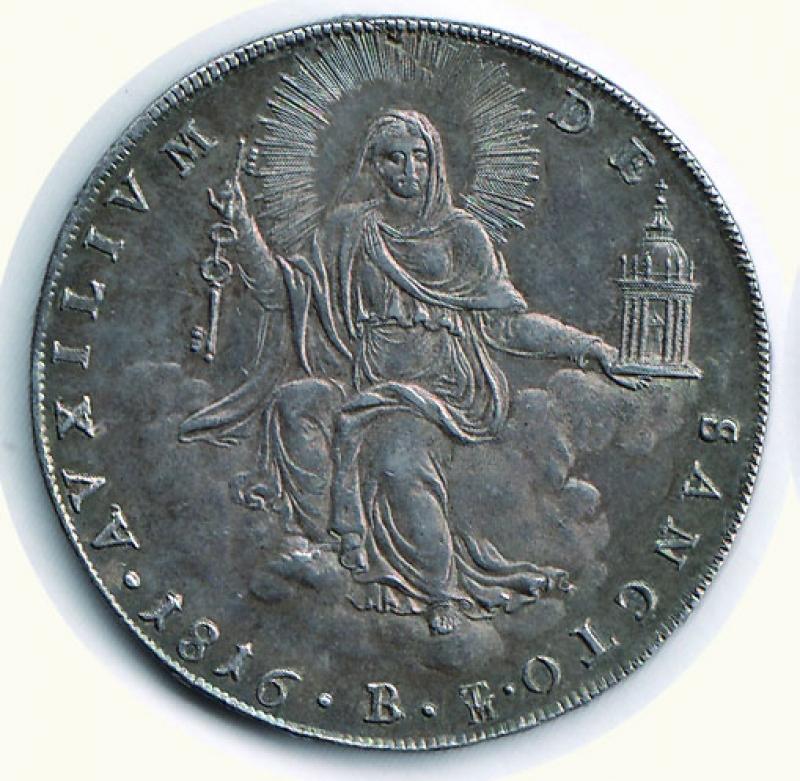 obverse: BOLOGNA - Pio VII (1800-1823) - Scudo 1816