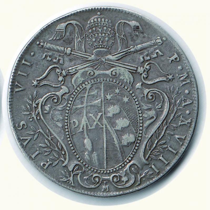 reverse: BOLOGNA - Pio VII - Scudo 1818 A. XVIII (da montatura).