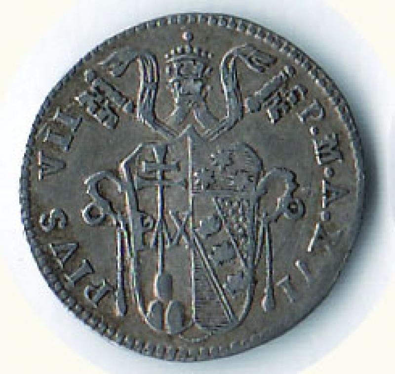 obverse: BOLOGNA - Pio VII - Grosso 1816 A. XVI.