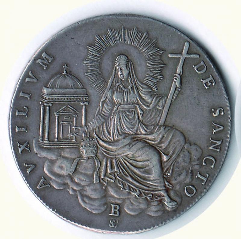 obverse: BOLOGNA - Sede vacante 1829 - Scudo.