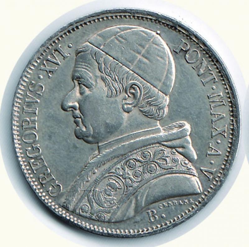 obverse: BOLOGNA - Gregorio XVI (1831-1846) - Scudo 1835 A. V.