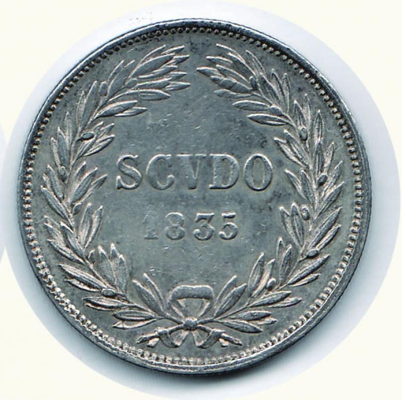 reverse: BOLOGNA - Gregorio XVI (1831-1846) - Scudo 1835 A. V.