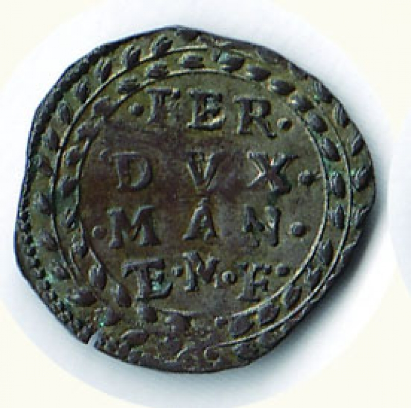obverse: CASALE Ferdinando Gonzaga (1613-1626) Grosso a d. - colpetto al R/ D/FER/DVX./MAN/ E. F; R/Croce di Gerusalemme - C.N.I. 126/77. g.1,91.
