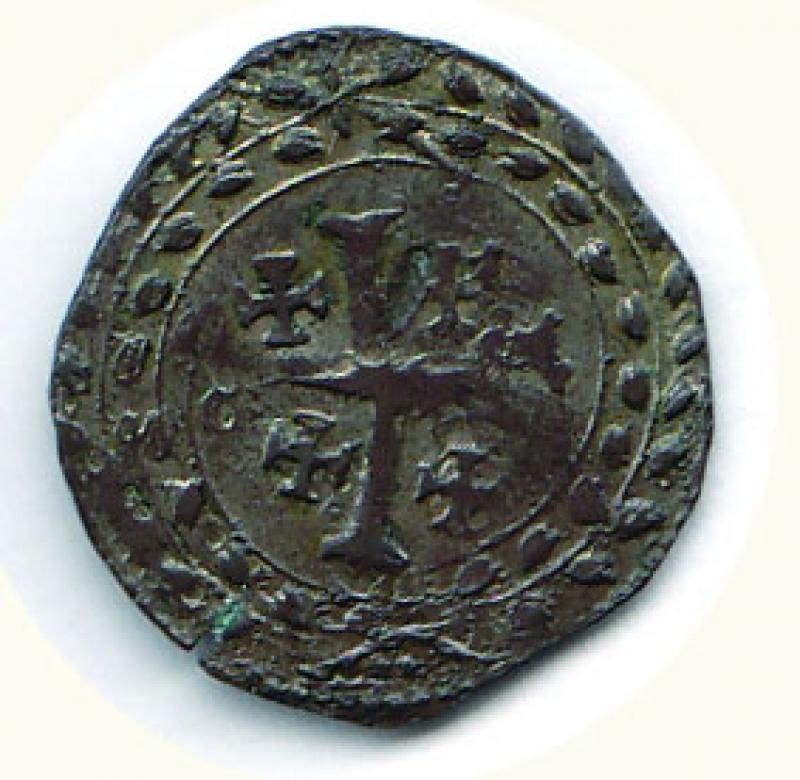 reverse: CASALE Ferdinando Gonzaga (1613-1626) Grosso a d. - colpetto al R/ D/FER/DVX./MAN/ E. F; R/Croce di Gerusalemme - C.N.I. 126/77. g.1,91.