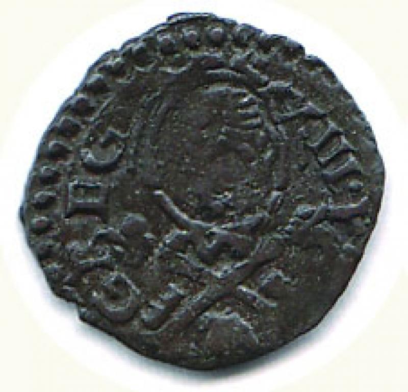 obverse: ANCONA - Gregorio XIII ( 1572-1585) - Quattrino