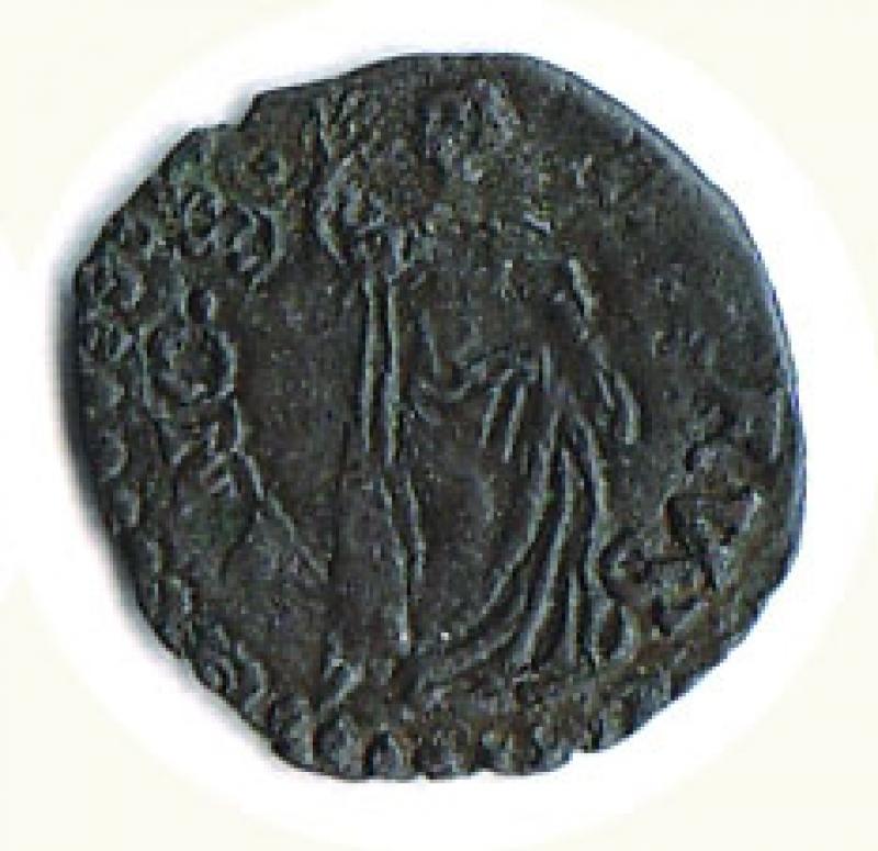 reverse: ANCONA - Gregorio XIII ( 1572-1585) - Quattrino