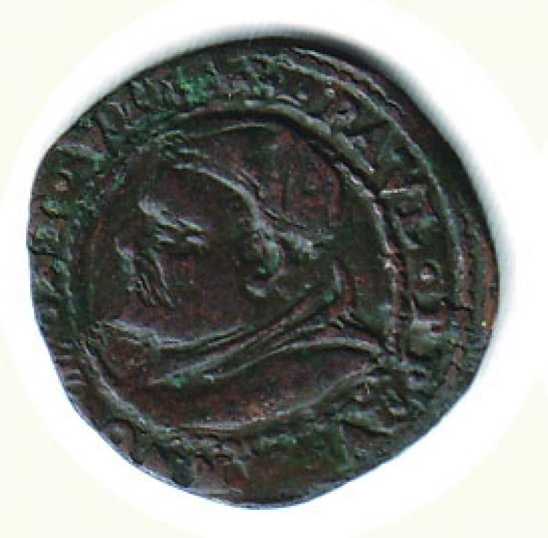 obverse: FERRARA - Paolo V (1605-1621) - Quattrino 1613 - gr. 2,73.