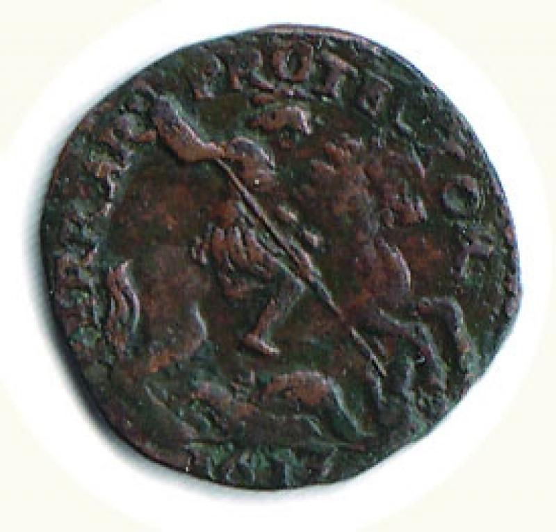 reverse: FERRARA - Paolo V (1605-1621) - Quattrino 1613 - gr. 2,73.