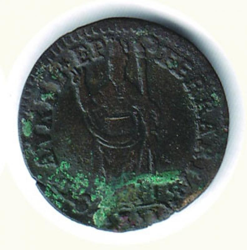 reverse: FERRARA - Clemente XI - Muraiola da 4 Baiocchi
