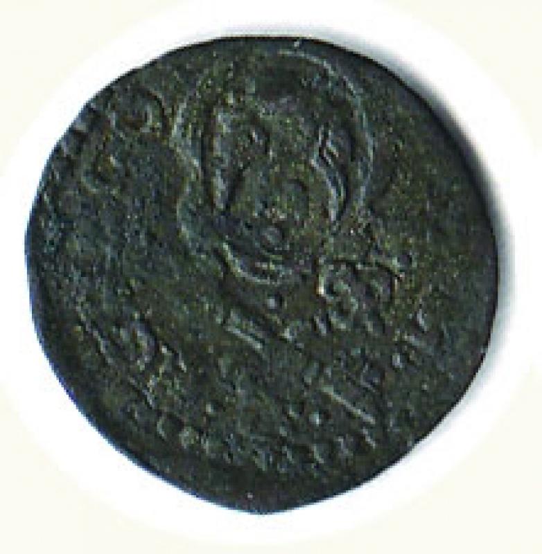 obverse: ANCONA - Gregorio XIII ( 1572-1585) - Quattrino - MIR 1229.