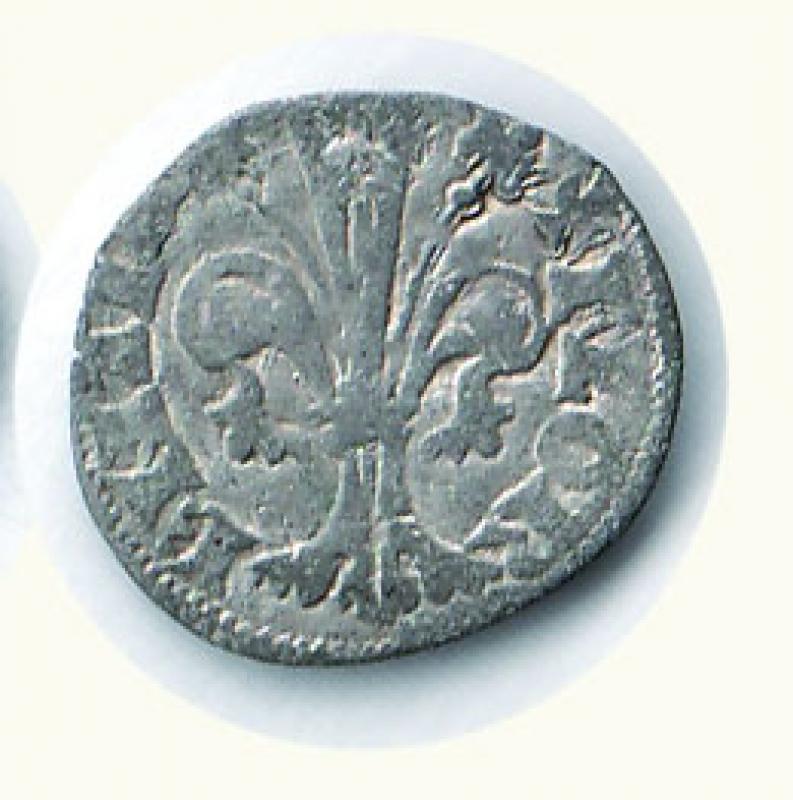 reverse: FIRENZE - Repubblica - Quattrino II serie (1347-1362) - MIR 86.