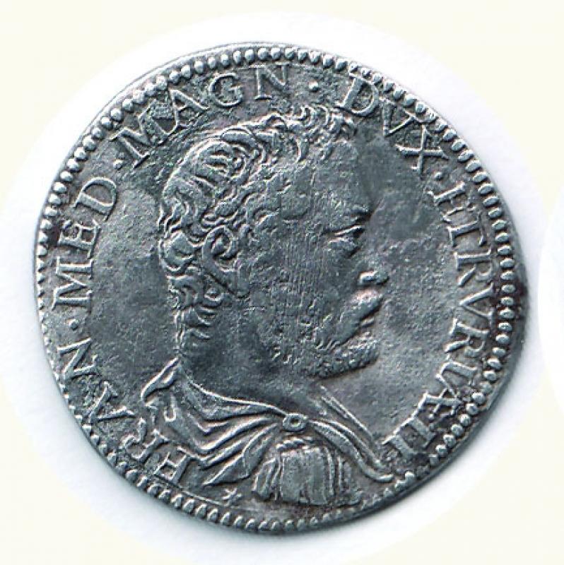 obverse: FIRENZE - Francesco I (1574-1587) - Testone V serie