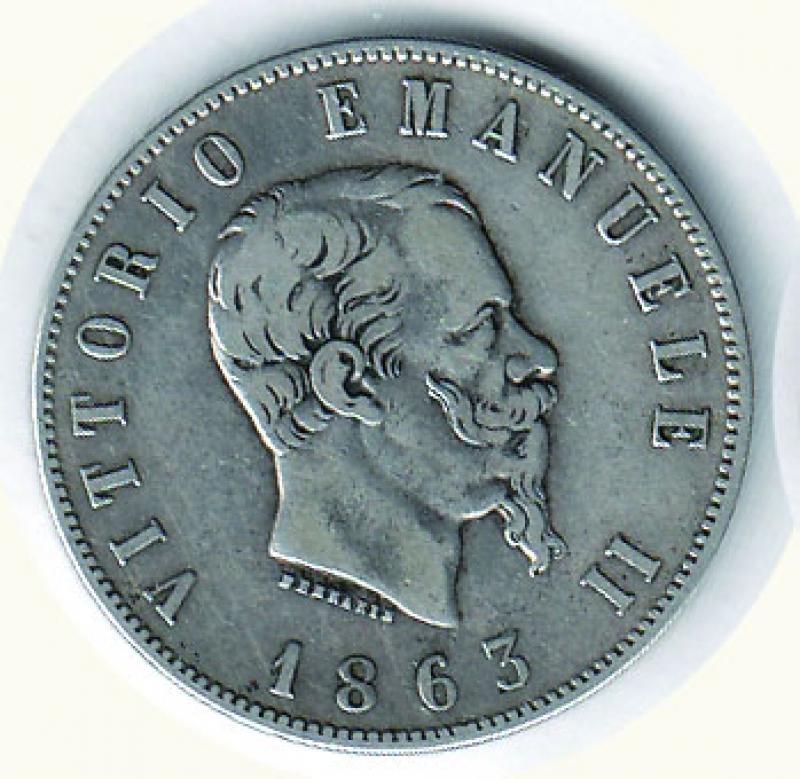 obverse: VITTORIO EMANUELE II - 2 Lire 1863 To - Valore.