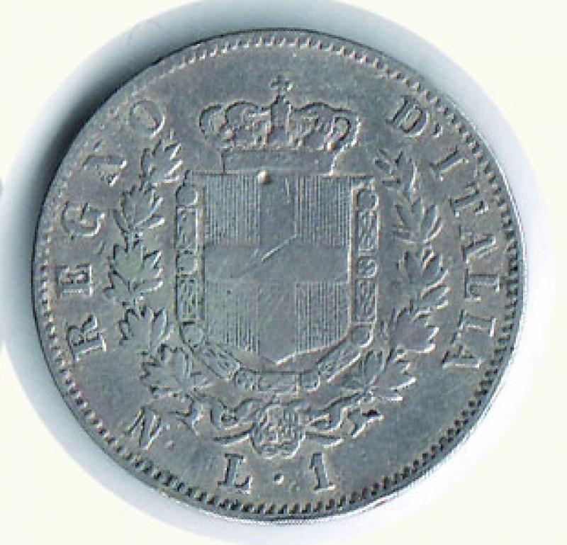 reverse: VITTORIO EMANUELE II - Lira 1862 Na.
